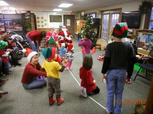 Santa Claus visits Fountain Rock for holiday story time